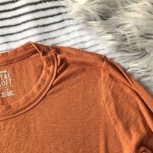 NWOT Aerie Real Soft Ochre Long Sleeve Tee